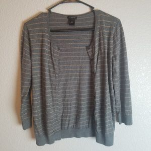 Sweaters - Ann Taylor Striped Cardigan size M